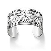 Tropical Birds Cuff Bracelet