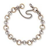 Gold and Silver Link Charm Bracelet