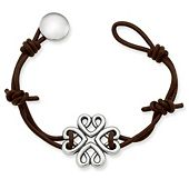 Bountiful Hearts Leather Bracelet