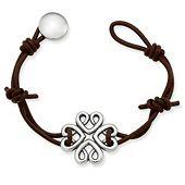 Bountiful Hearts Leather Bracelet
