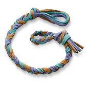 Sandy Beach Woven Leather Bracelet