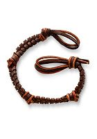 Mocha Fishtail Braided Leather Bracelet