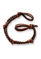 Mocha Fishtail Braided Leather Bracelet