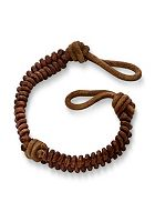 Cinnamon Rugged Fishtail Braided Leather Bracelet