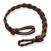 Dark Brown Woven Leather Bracelet
