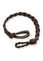 Dark Brown Double Cordovan Braided Leather Bracelet