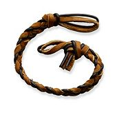 Chocolate Chip Woven Leather Bracelet