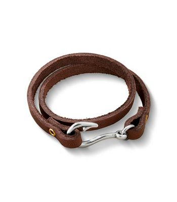 Fish hook leather bracelet james avery for Leather fish hook bracelet