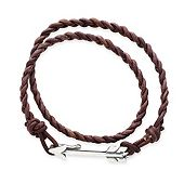 Soaring Arrow Brown Leather Bracelet