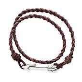 Soaring Arrow Brown Leather Bracelet