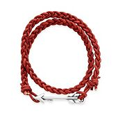 Soaring Arrow Red Leather Bracelet