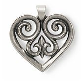 French Heart Pendant, Medium