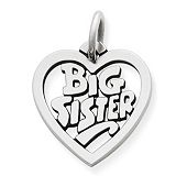 """Big Sister"" Heart Charm"