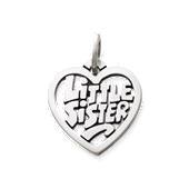 """""""Little Sister"""" Heart Charm"""
