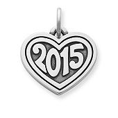 "Heart with ""2015"" Charm"