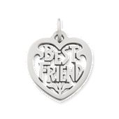 """Best Friend"" Heart Charm"