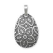 Beaded Floral Pendant