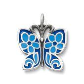 Blue Enamel Butterfly Charm