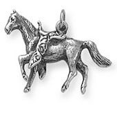 Saddled Horse Charm