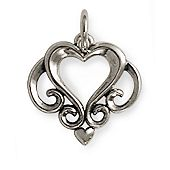 Ornate Open Heart Charm