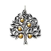 Golden Tree of Life Pendant