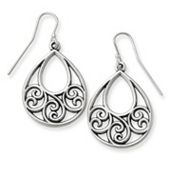 Gentle Wave Ear Hooks in Sterling Silver