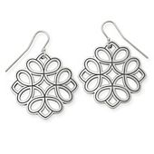Floral Tracery Ear Hooks