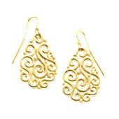 Open Sorrento Ear Hooks in Gold
