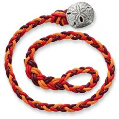 Poppy Red Woven Bracelet with Sand Dollar Clasp at James Avery