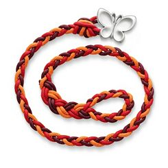 Poppy Red Woven Bracelet with Butterfly Clasp at James Avery
