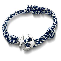 Pacific Blue Woven Bracelet with Anchor Clasp at James Avery