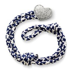Pacific Blue Woven Bracelet with Textured Heart Clasp at James Avery