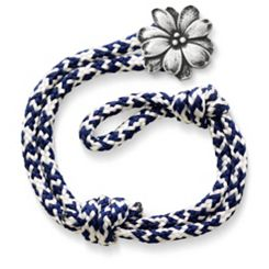 Pacific Blue Woven Bracelet with Wildflower Clasp at James Avery