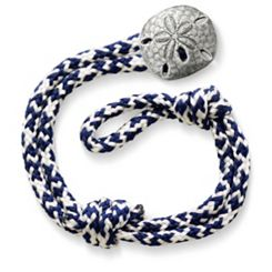 Pacific Blue Woven Bracelet with Sand Dollar Clasp at James Avery