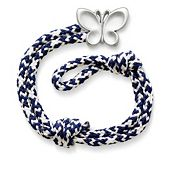 Pacific Blue Woven Bracelet with Butterfly Clasp