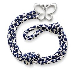 Pacific Blue Woven Bracelet with Butterfly Clasp at James Avery