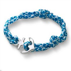 Caribbean Blue Woven Bracelet with Anchor Clasp at James Avery