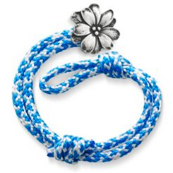 Caribbean Blue Woven Bracelet with Wildflower Clasp at James Avery