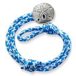 Caribbean Blue Woven Bracelet with Sand Dollar Clasp at James Avery