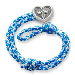 Caribbean Blue Woven Bracelet with Scrolled Heart Clasp at James Avery