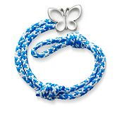 Caribbean Blue Woven Bracelet with Butterfly Clasp