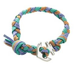Sandy Beach  Woven Leather Bracelet with Anchor Clasp at James Avery