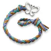 Sandy Beach Woven Leather Bracelet with Butterfly Clasp