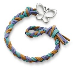Sandy Beach Woven Leather Bracelet with Butterfly Clasp at James Avery