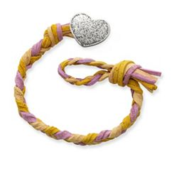 Desert Sunset Woven Leather Bracelet with Textured Heart Clasp at James Avery