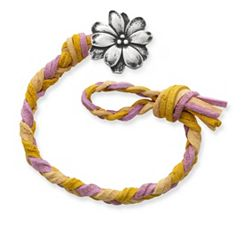 Desert Sunset Woven Leather Bracelet with Wildflower Clasp at James Avery