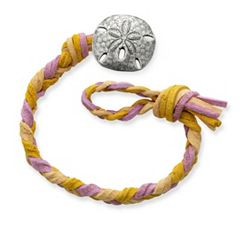 Desert Sunset Woven Leather Bracelet with Sand Dollar Clasp at James Avery