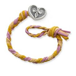 Desert Sunset Woven Leather Bracelet with Scrolled Heart Clasp at James Avery