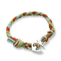 Sedona Woven Leather Bracelet with Anchor Clasp at James Avery