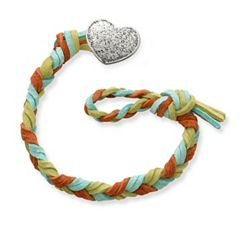 Sedona Woven Leather Bracelet with Textured Heart Clasp at James Avery